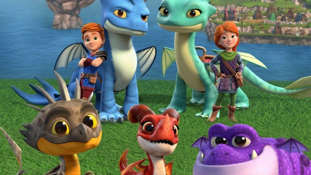 seriál Dračí záchranáři Dragons: Rescue Riders series